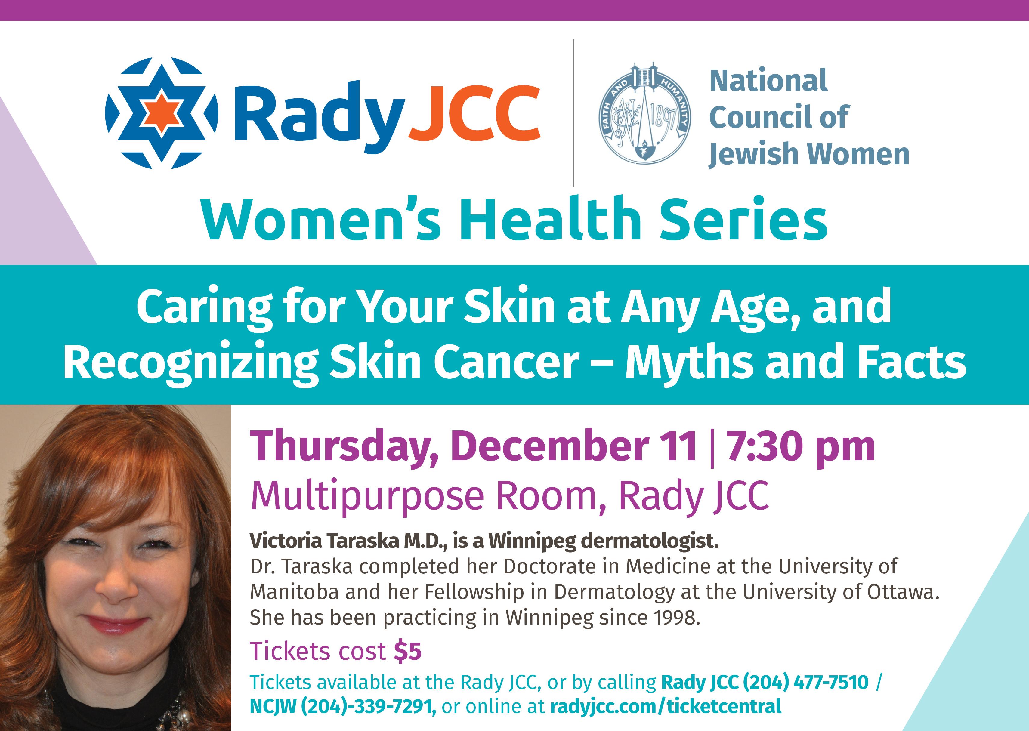 Womens Health Skin Plasma Rady Jcc Fitness Center